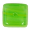 Glass Pressed Beads 8X10mm Cubes Green/Yellow